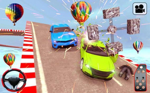 汽车特技坡道种族游戏